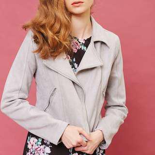 Grey Suede Jacket (S/M)