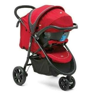 Preloved Stroller Joie Litetrax 3 Travel System with Gemm / Carseat