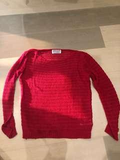 Bershka Red Knit Sweater