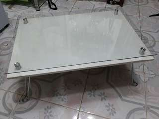 Glass Top White Center Table