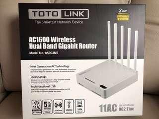Toto link dual band gigabit router 雙頻路由器