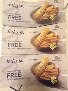 Fish & Co - FREE any fish and chips (99k)