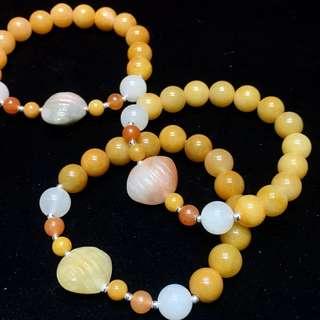 黃玉貝殼手鏈