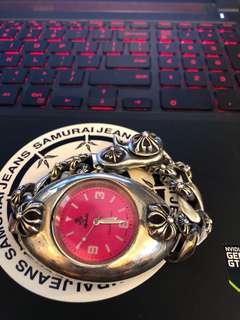 銀手錶 十字花款