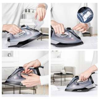 1485. Aicok Iron, Steam Iron, Full Function Ironing Press, Variable Temperature and Steam Control with Non-Stick Soleplate, 2200W,