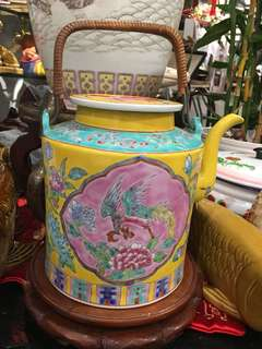 Rare and Exquisite large peranakan teapot for sale