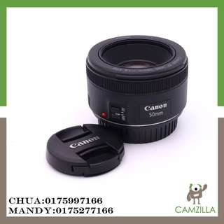 USED CANON LENS EF 50mm 1:1.8 STM