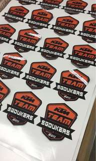 Ktm SgDukers Stickers