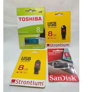USB Flash drive 8gb (Sandisk, Toshiba, Strontium)