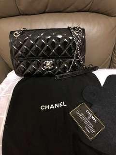 Chanel Bag 25cm 黑色漆皮銀扣