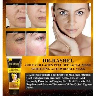 readystock peel off mask gold collagen whitening anti wrinkle Blackhead Killer