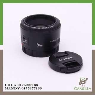 USED CANON LENS EF 50mm 1:1.8 II