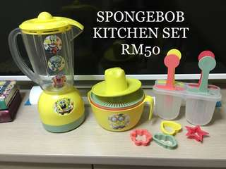 Kitchen set toy/spongebob/ice cream/shake maker