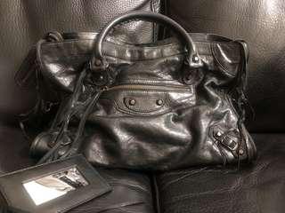 🈹 正品balenciaga classic city textured-leather bag