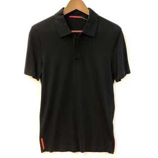 Men Prada dark blue polo tee shirt size S