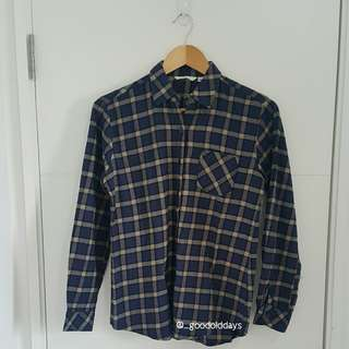 Dark Blue Flanel Shirt