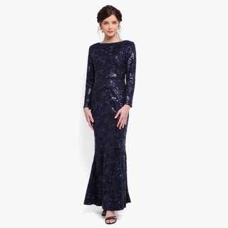 Rent(Sewa)Zalia Blue Embellished Dress