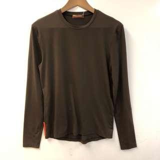 Men Prada brown long sleeves top size XS