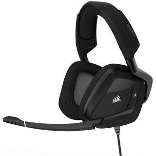 CORSAIR VOID PRO RGB USB Gaming Headset - Dolby 7.1 Surround Sound Headphones for PC - Carbon