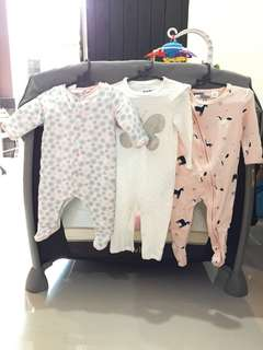 COTTON ON BABY pajama 6-12mths second unused.MURAH paket 4pcs