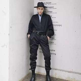 Men's fashion  overall long pant long sleeve