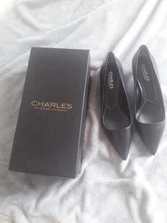 Black office work dress shoes
