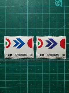[均一價$10]1970 意大利 羅馬至東京 新票一套