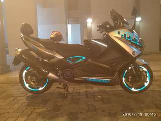 Tron-max.. Thank you for the support.. Yamaha Tmax..  Rim decals..