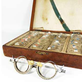 Vintage Ophthalmology Eye Glass Trial Lens Set (OPL_01-1216-68)