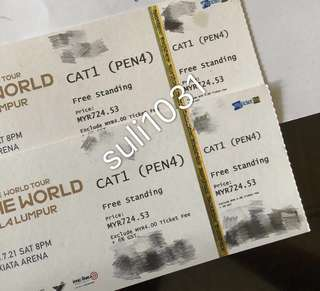 Wanna One : One The World Tour in Kuala Lumpur - Cat 1 Pen 4