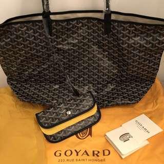 Goyard Tote Bag GM size in Black