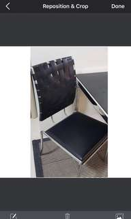 """""""Hedera"""" Elegant black-chrome dining chair. Bought for 4998!"""