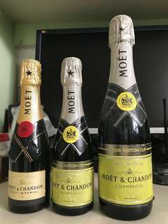 Louis vuitton 聯乘 moet chandon champagne 3 枝