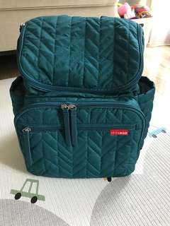 Skip Hop Forma Diaper Backpack in Peacock