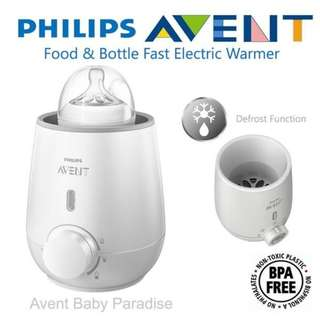 philip avent electric fast baby milk bottle warmer