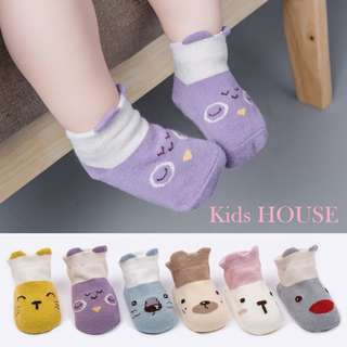 🚚 3-pairs Lovely Animal Design Socks (0-4 yrs)