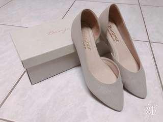 🚚 Bonjour +2cm美腿內增高尖頭鞋