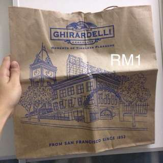 ghirardeli chocolate paperbag