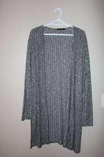 Urban Planet Long Gray Fine Knit Cardigan