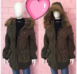 FAUX FUR WINTER PARKA COAT (FAVE!) DETACHABLE FUR