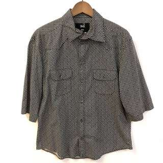 Men D&G black dots shirt sleeves shirt size