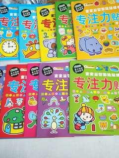 Sticker books for infant toddler children kids