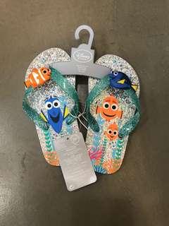 全新 Disney Finding Dory metallic sandals 閃粉沙灘拖鞋