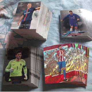 Topps/Panini soccer trading cards for sale (Lot of 140 cards)