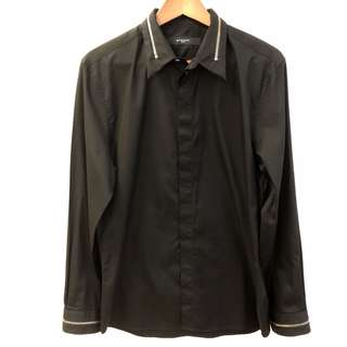 Men Givenchy black with zippers shirt size 42