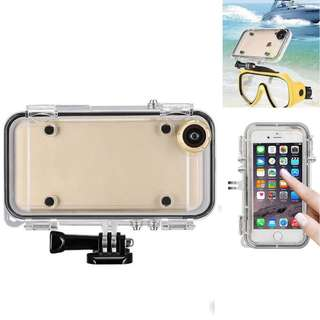 1490. iPhone 6 plus, 6S plus Waterproof Case - XINING 170 Degree Wide Angle Camera Lens Case Cover with GoPro Bike Mount for Extreme Action Sports
