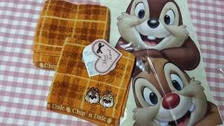 大鼻鋼牙 日本 Disney Chip N Dale 毛巾仔 25cm x 25 cm