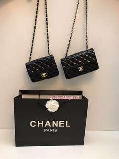 Chanel Bag 漆皮 黑色 CF 17cm/20cm
