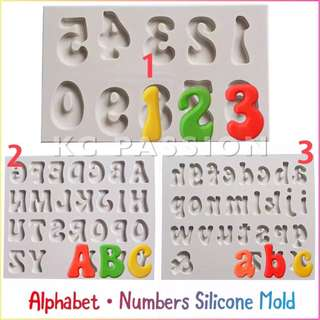 🎂 ALPHABET LETTERS • NUMBERS SILICONE MOLD TOOL for Pastry • Chocolate • Fondant • Gum Paste • Candy Melts • Jelly • Gummies • Agar Agar • Ice • Resin • Polymer Clay Craft Art • Candle Wax • Soap Mold • Chalk • Crayon Mould •