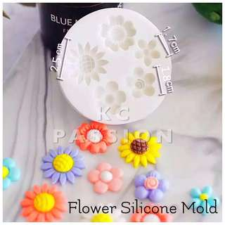 🌺 FLOWERS SILICONE MOLD TOOL for Pastry • Chocolate • Fondant • Gum Paste • Candy Melts • Jelly • Gummies • Agar Agar • Ice • Resin • Polymer Clay Craft Art • Candle Wax • Soap Mold • Chalk • Crayon Mould •